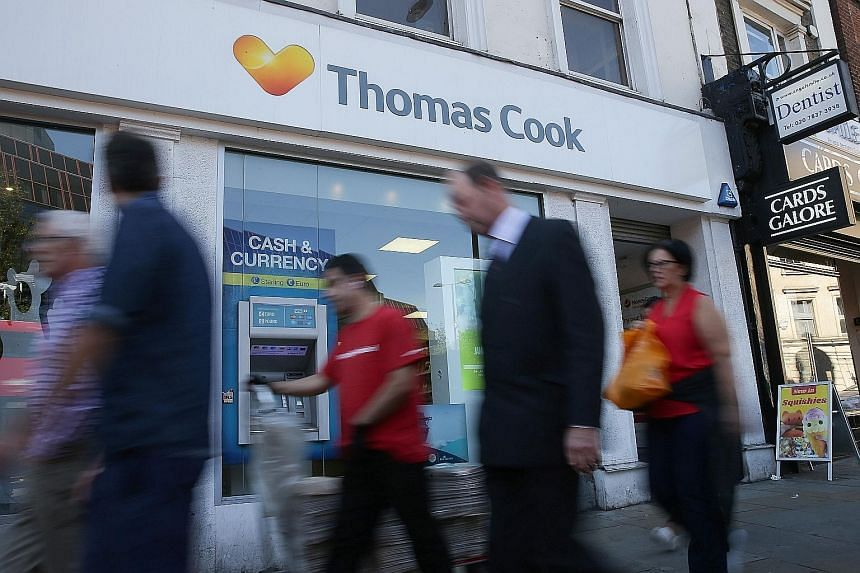 Thomas Cook is facing a tough operating environment in European travel, amid dwindling bookings and uncertainty over Brexit.
