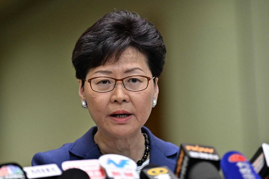 Hong Kong Chief Executive Carrie Lam holds a press conference on Monday (June 10), a day after the city witnessed its largest street protest in at least 15 years as crowds massed against plans to allow extraditions to China.