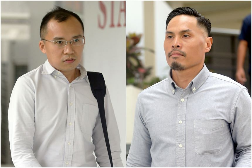 Singapore Civil Defence Force officers Kenneth Chong Chee Boon (left) and Nazhan Mohamed Nazi are contesting the charges against them.