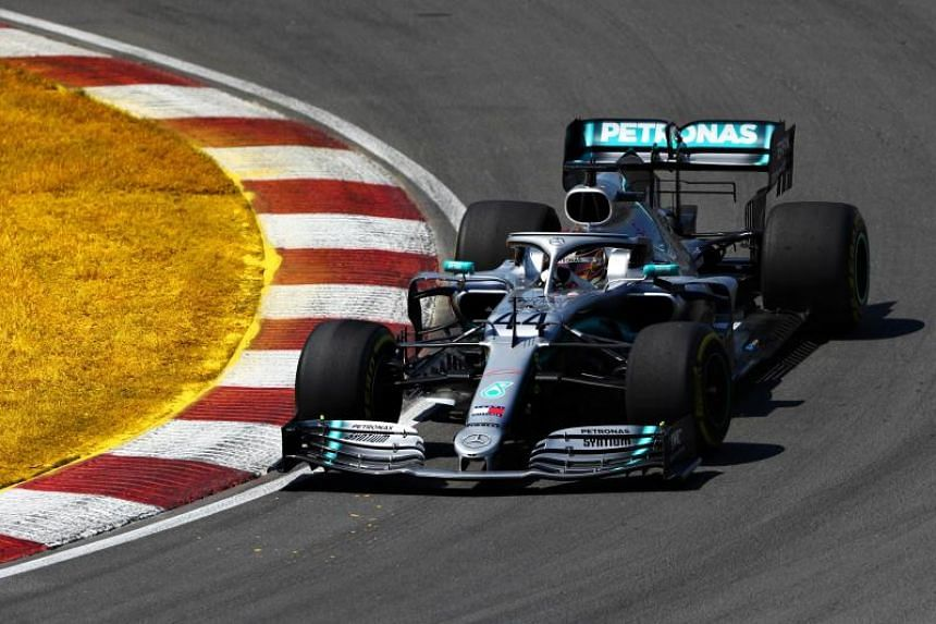 Lewis Hamilton of Great Britain driving the (44) Mercedes AMG Petronas F1 Team Mercedes W10 on track during the F1 Grand Prix of Canada at Circuit Gilles Villeneuve on June 9, 2019 in Montreal, Canada.