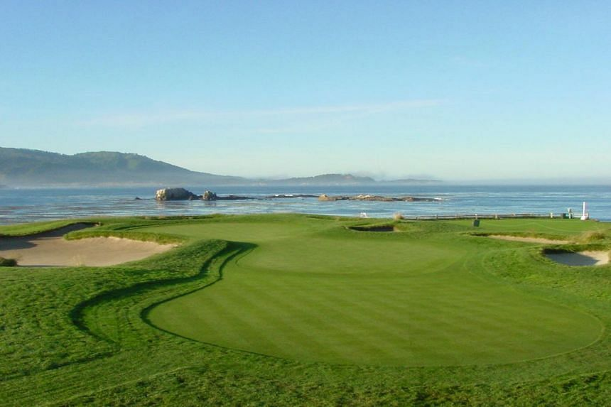 A view of the 17th green at Pebble Beach, California. Pebble Beach first hosted the US Open in 1972.