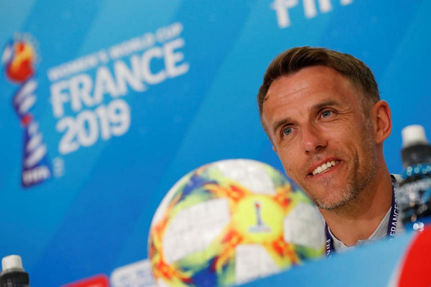 England manager Phil Neville during a press conference in Nice, France, on June 8, 2019.