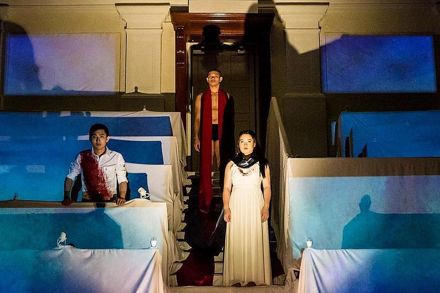 Oreste By Ifigenia, whose cast included (from left) Chan Wei En, William Keohavong and Cherie Tse, was sold-out at the Singapore International Festival of Arts.