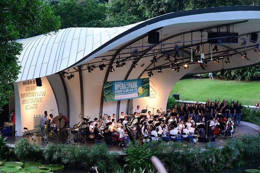 The free annual concert Opera in the Park (left, also held last year in the Botanic Gardens) is now in its 12th edition. The concert is sponsored by Singapore Press Holdings and will feature a 90-minute programme.