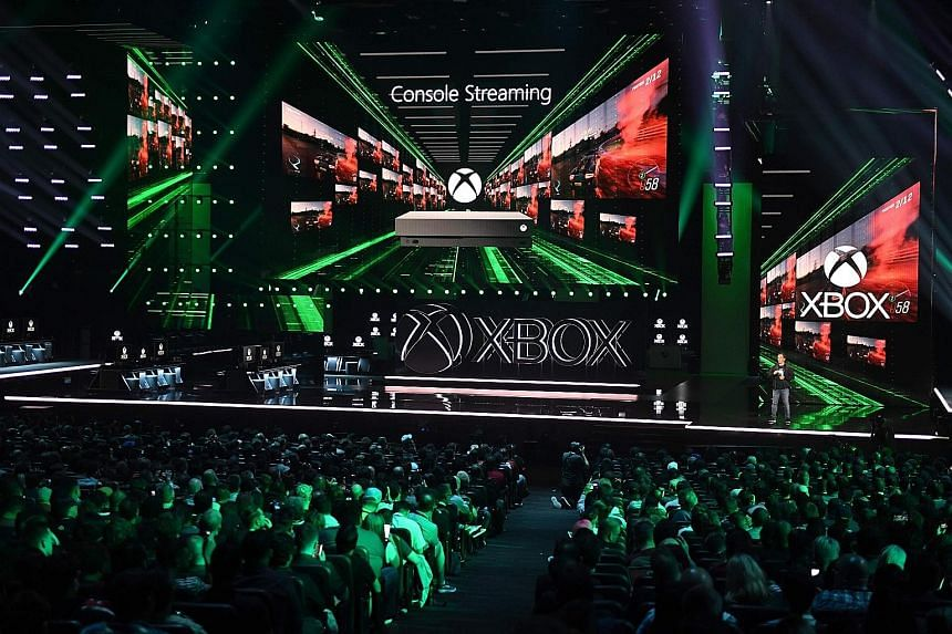 """Mr Phil Spencer, head of Xbox at Microsoft, announcing the new Xbox console, code-named Project Scarlett, ahead of the E3 gaming convention in Los Angeles. He said the console would be designed for """"one thing only - gaming""""."""