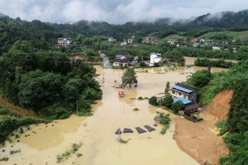 In the region of Guangxi in the southwest, 20,000 households had their power cut and roads, bridges and other infrastructure were severely damaged, the China Daily said.