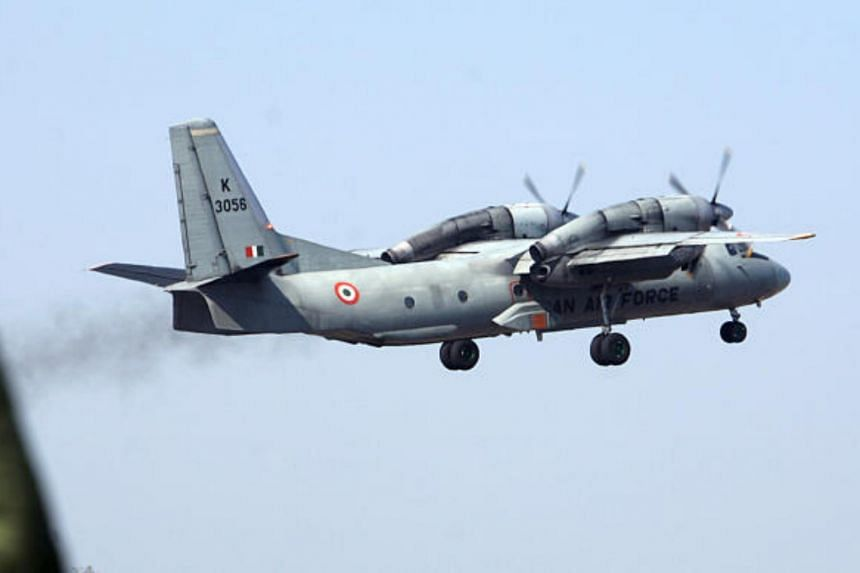 An Indian Air Force AN-32 transport aircraft carrying security personnel takes off from the technical airport in Jammu, India, on Feb 9, 2008.