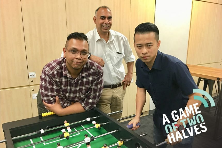 A Game Of Two Halves podcast tackles the biggest local and international talking points each week and is hosted by Sazali Abdul Aziz (left), Rohit Brijnath (centre) and David Lee (right).