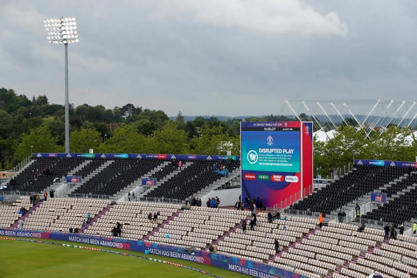 The match was abandoned after persistent heavy rain in Southampton, Britain.
