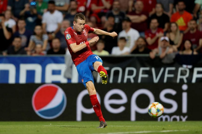 The Czechs opened the scoring in the 18th minute when Jakub Jankto slammed a left-foot volley into the net from a tight angle.