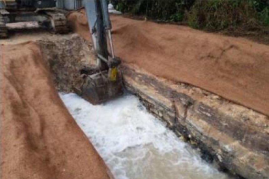 Megastone Holdings damaged a 300mm diameter water main, resulting in a loss of 1.8 million litres of potable water.