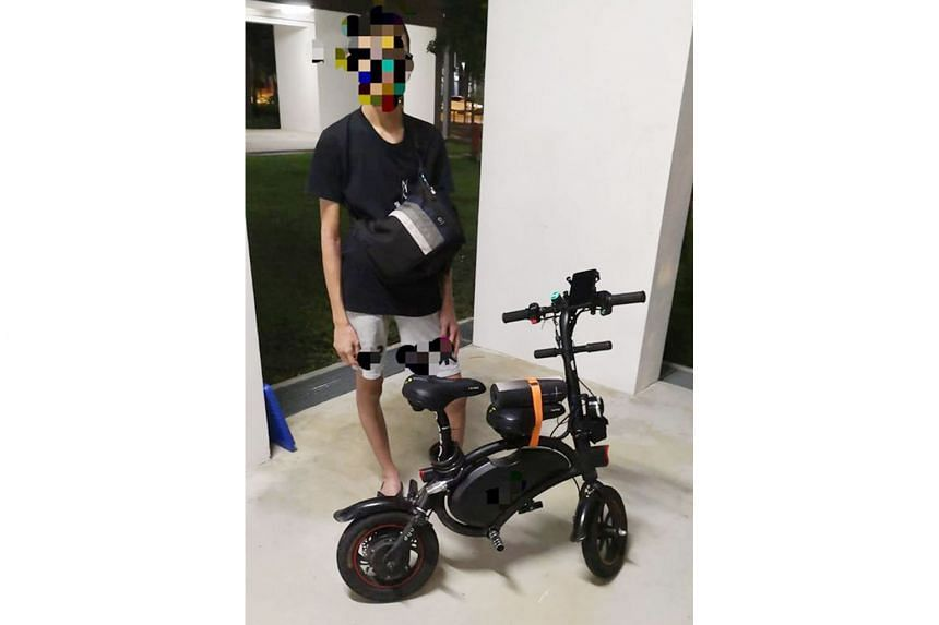 A rider found displaying a false identification mark on his e-scooter.