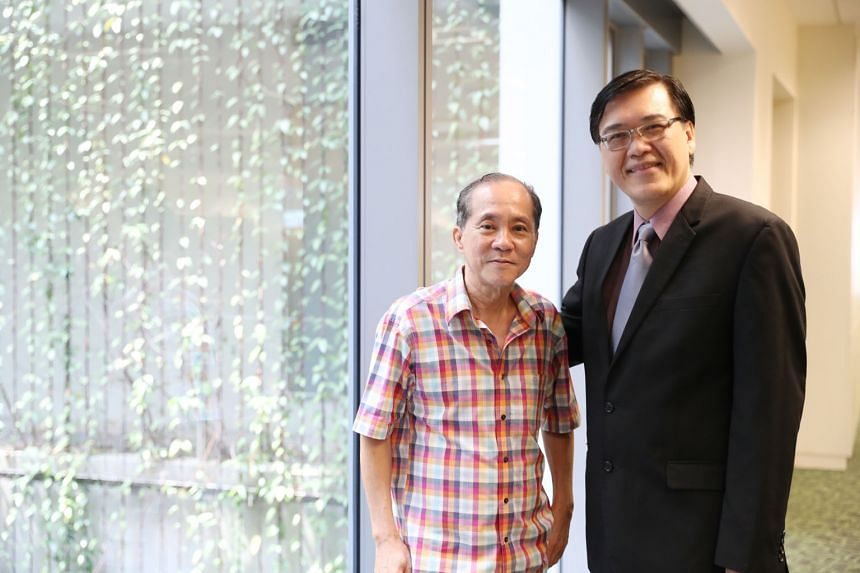 Mr Koh Chye Choon (left) suffered a heart attack in February and was prescribed statins but soon taken off them after a test indicated possible muscle damage. He was referred to the National University Heart Centre's Associate Professor Poh Kian Keon