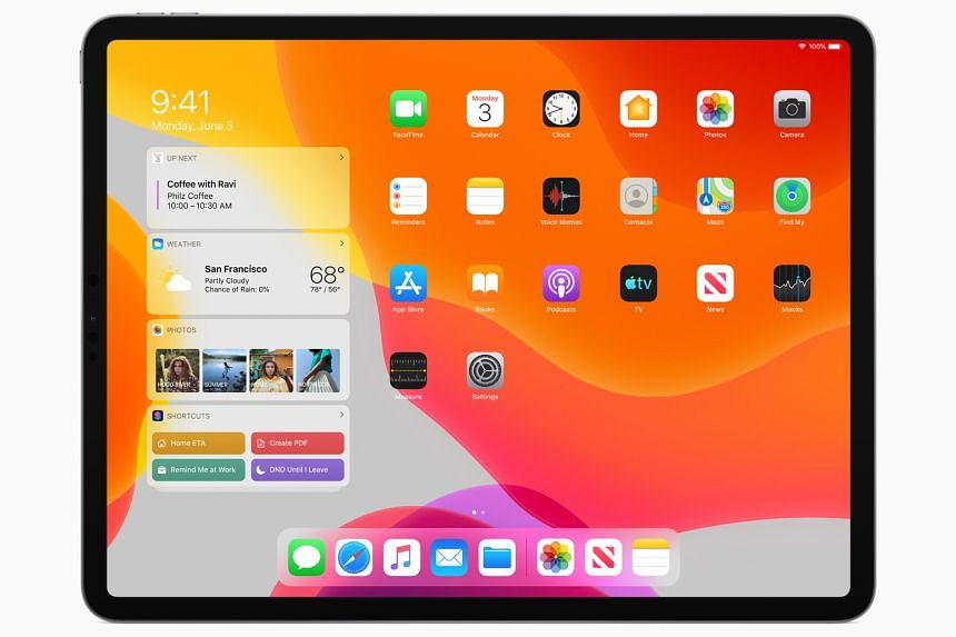 The iPadOS' major difference from the iOS 13 is its new Home Screen.