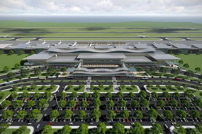 The proposed airport will have four parallel runways, eight taxiways, hundreds of air bridges and several passenger terminal buildings.