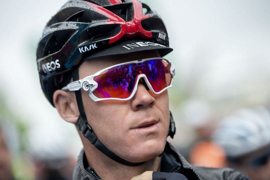 """Froome (above) was described as being in """"a very, very serious condition""""."""