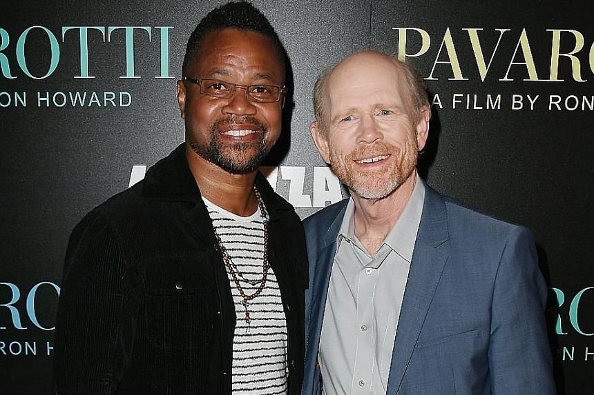 Actor Cuba Gooding Jr (above left) and director Ron Howard at a Pavarotti screening in New York City last month.
