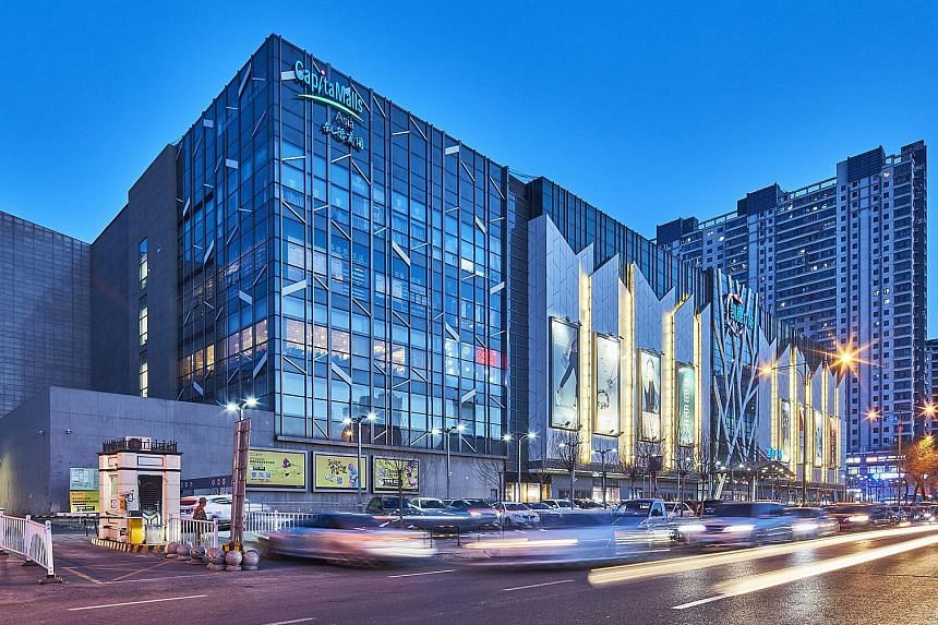 The malls CapitaLand is selling are (from top) CapitaMall Xuefu and CapitaMall Aidemengdun, both in Harbin, and CapitaMall Yuhuating in Changsha. PHOTOS: CAPITALAND