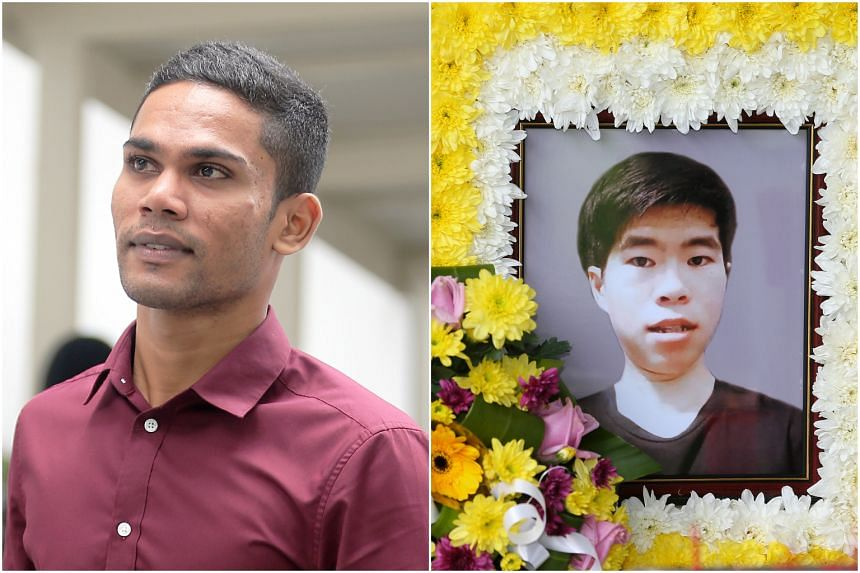 Lance Coporal Mohamed Rabik Atham Ansari (left) said that he knew Corporal Kok Yuen Chin well enough to tell the difference between his 'smiles'.
