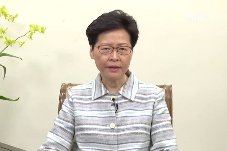 "Hong Kong leader Carrie Lam said in a strongly worded three-minute video: ""This is not an act that shows love for Hong Kong... Some people resorted to dangerous, or even potentially fatal, acts."""
