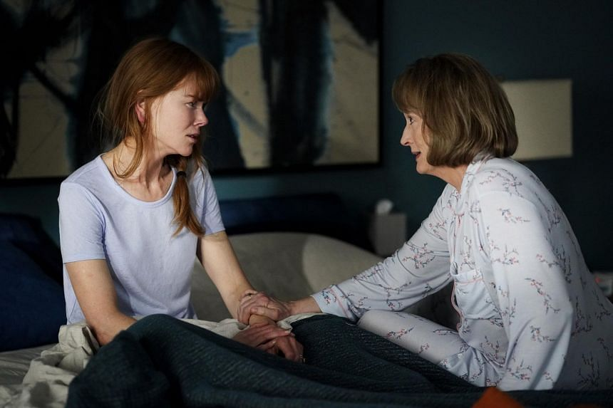 Celeste, played by Nicole Kidman (left), has to contend with mother-in-law Mary Louise, played by Meryl Streep (right), in season 2 of Big Little Lies.