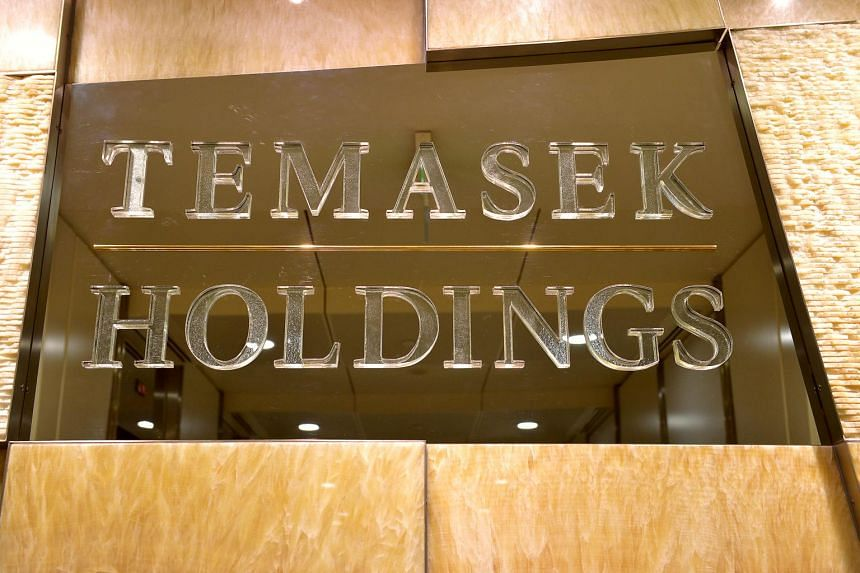 The Temasek Holdings logo at the office at The Atrium@Orchard.