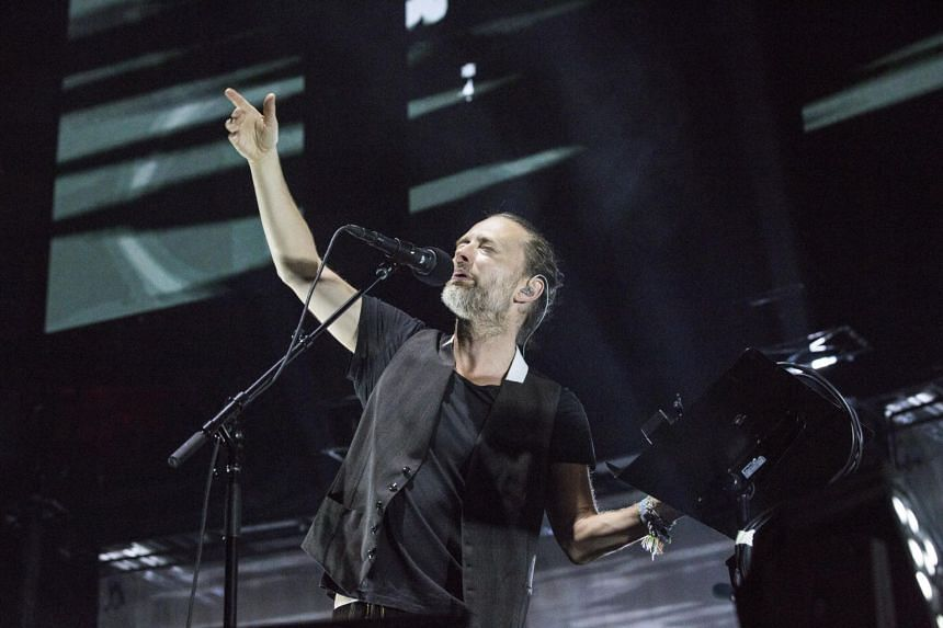 Thom Yorke of Radiohead performing at Madison Square Garden in New York. The band said rather than pay a ransom, it was releasing the music in full for sale with profits going to British climate activists Extinction Rebellion.