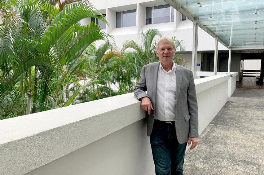 Professor Joergen Schlundt of the NTU Food Technology Centre, who spoke at the 12th Global Microbial Identifier Meeting at Nanyang Technological University on June 12, 2019.