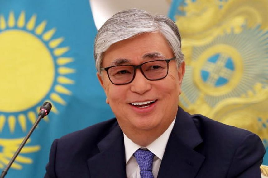 Presidential candidate Kassym-Jomart Tokayev speaks at a press conference in Akorda after the presidential elections in Kazakhstan on June 10, 2019.