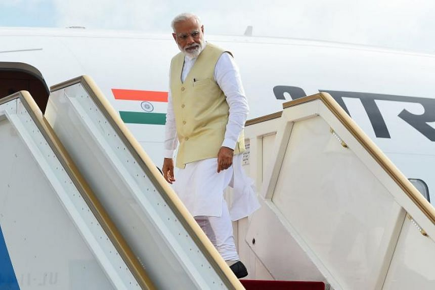 The Indian Foreign Ministry said the government had considered the routes for Prime Minister Narendra Modi's travel and decided he would take the longer passage to Central Asia instead of the direct route over Pakistan.
