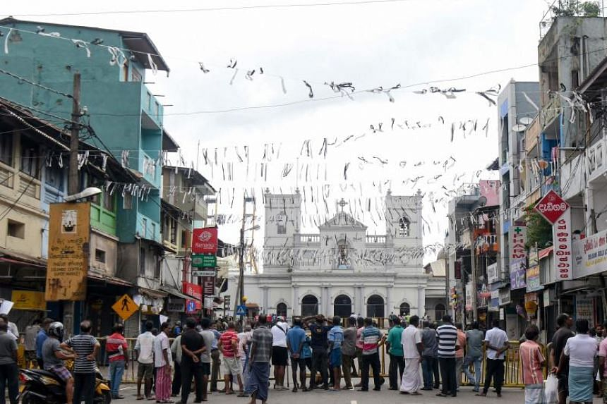 A view of St. Anthony's Shrine in Colombo after a series of bomb blasts targeted churches and luxury hotels on Easter Sunday in Sri Lanka on April 29, 2019.