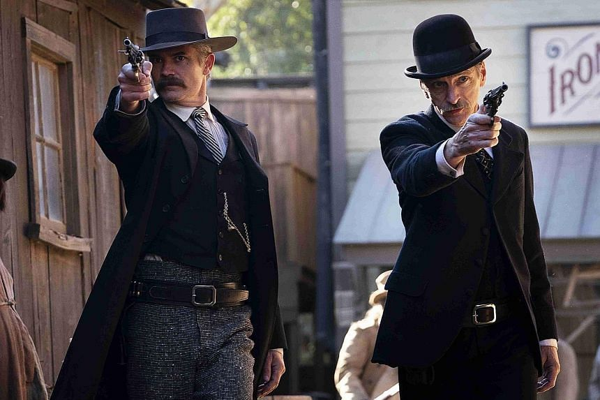 Deadwood stars Timothy Olyphant (above left) and John Hawkes.