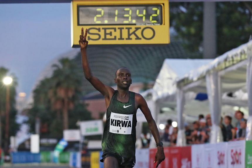 Kenyan Felix Kiptoo Kirwa, runner-up in the Men's Open field in Singapore last year, tested positive for strychnine and the Athletics Integrity Unit has banned him for nine months, until Nov 14, 2019.