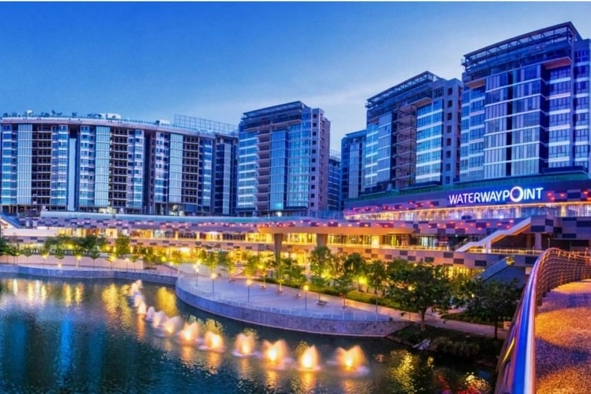 Waterway Point is a four-storey mall in Punggol with a net lettable area of 371,200 square feet and a committed occupancy of 98.1 per cent as at March 31.