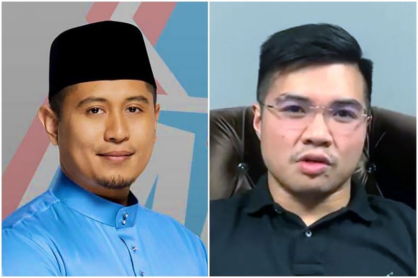 Mr Hilman Idham (left), political secretary to Malaysian Economic Affairs Minister Azmin Ali, has confirmed meeting government official Muhammad Haziq Abdul Aziz on Tuesday (June 11), when the videos first surfaced but refused to comment further.