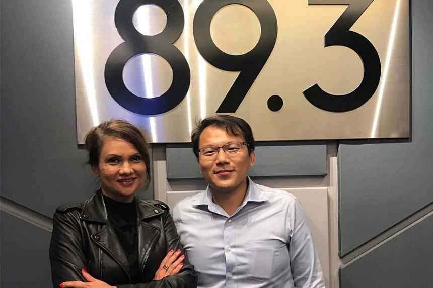 Entrepreneur Zhou Wenhan (right) talks about his app development journey and shares in this Money FM podcast with host Michelle Martin, how VoicePing is transforming communication for field workers across various industries.