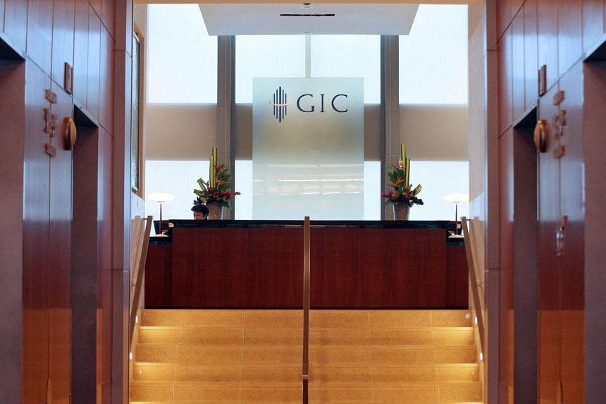 The logo of Singapore's sovereign wealth fund GIC at one of its offices.