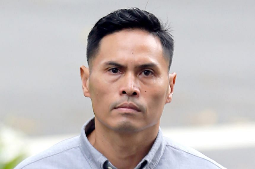 Clockwise from left: Lance Corporal Mohamed Rabik Atham Ansari took the stand yesterday on the third day of the trial of First Senior Warrant Officer Nazhan Mohamed Nazi and Lieutenant Kenneth Chong Chee Boon.