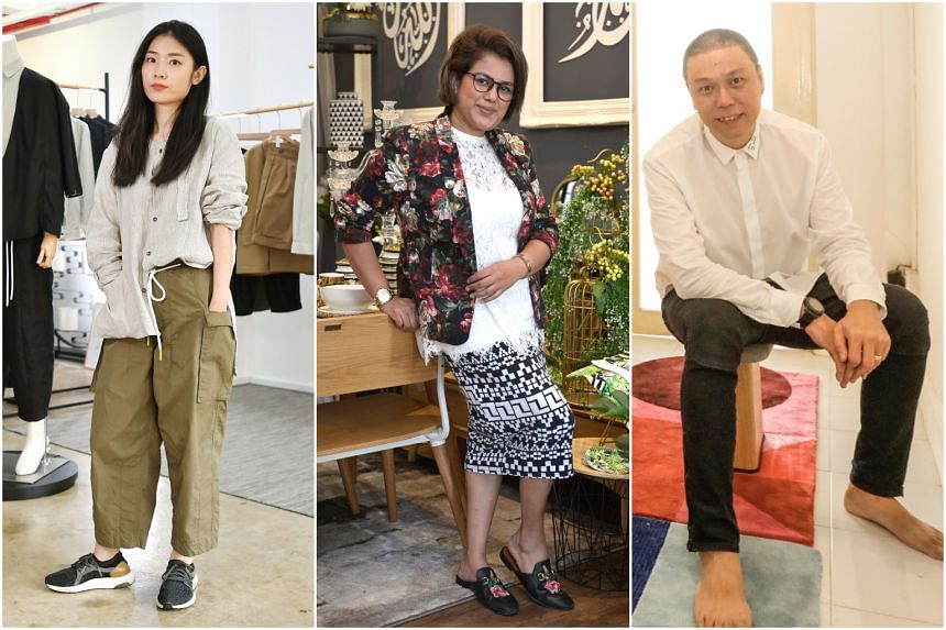 (From left) Menswear designer Xie Qian Qian, fashion designer Fatimah Mohsin and interior and furniture designer Kenny Hong will be making their debut at GSS.
