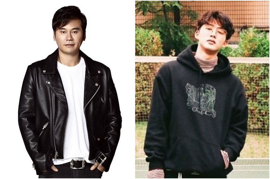 YG Entertainment's Yang Hyun-suk (left) allegedly forced a witness to change his testimony in favour of Korean boyband iKON leader B.I (right) and paid for a lawyer to help the idol star avoid investigation.