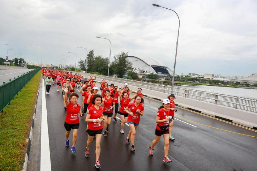 Participants at Great Eastern Women's Run 2018. This year's edition will take place on Nov 3.
