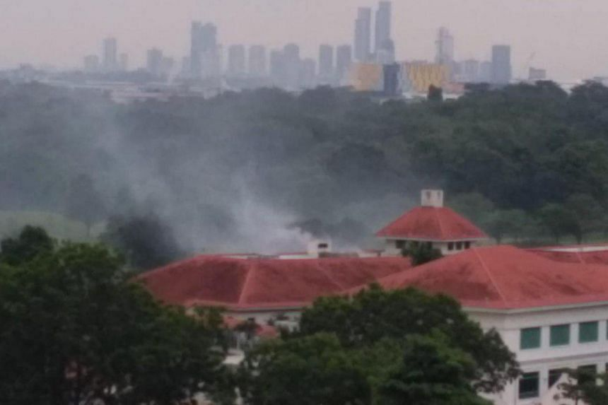 The Singapore Civil Defence Force said the fire involved the contents of a cooking pot.