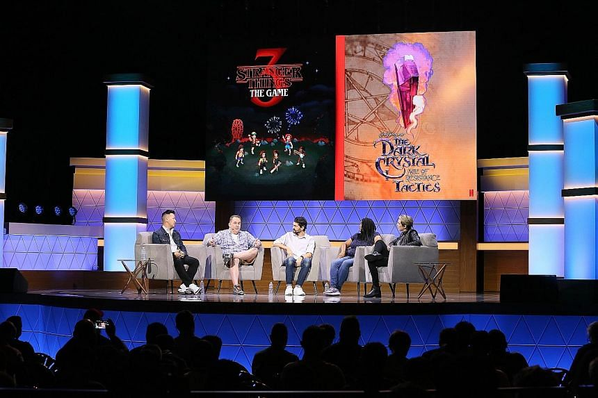 Netflix unveiling games based on Stranger Things 3 and The Dark Crystal: Age Of Resistance at the Electronic Entertainment Expo in Los Angeles.