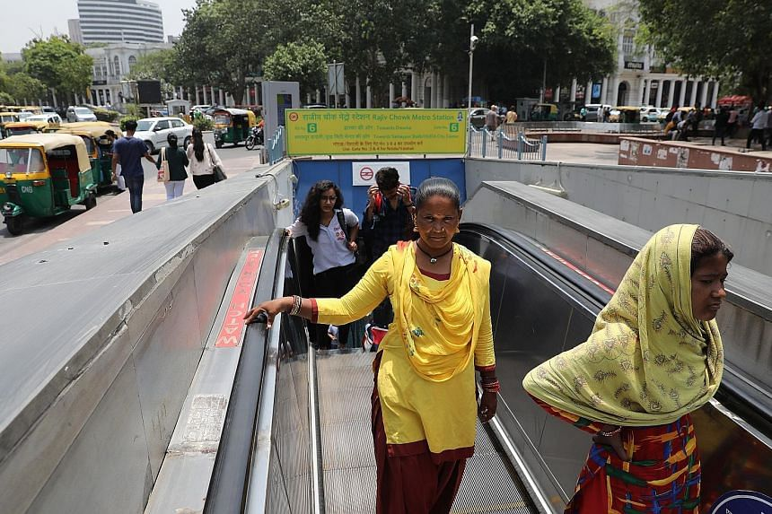 Safety concerns prompted Delhi chief minister Arvind Kejriwal to announce plans for free rides for women on public buses and metro trains. PHOTO: EPA-EFE