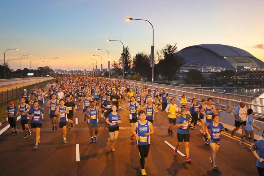 The Straits Times Run has three categories: 18.45km, created to mark the year ST was first published, 10km and 3.5km, a new distance created to mark Singapore Press Holdings' 35th anniversary.