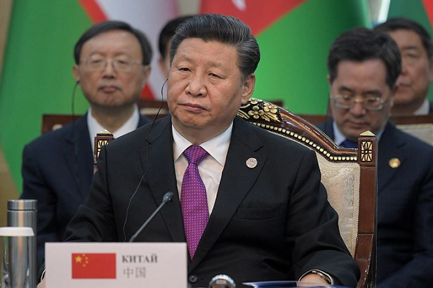 Chinese President Xi Jinping at a session during the 19th Shanghai Cooperation Organisation summit in Bishkek on June 14, 2019.