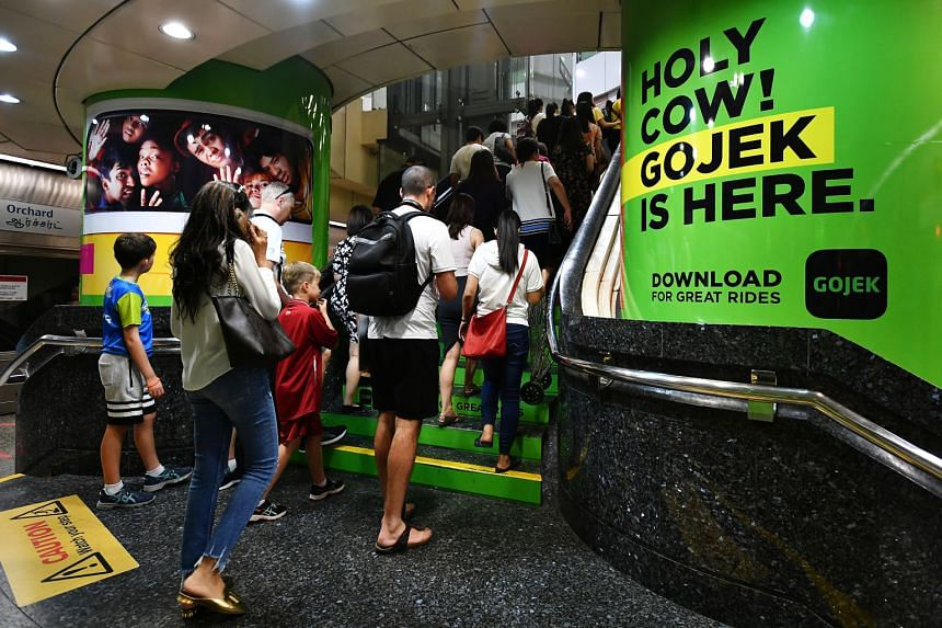 Ride-hailing company Gojek has its headquarters in Indonesia, while DBS has more than 460,000 digibank customers in the country to date. ST PHOTO: LIM YAOHUI
