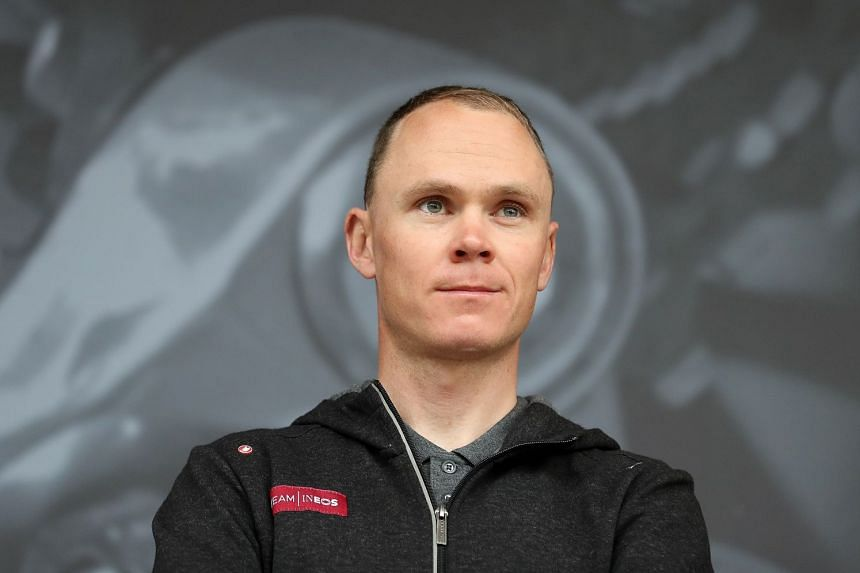 British cyclist Chris Froome at the Team Ineos launch.