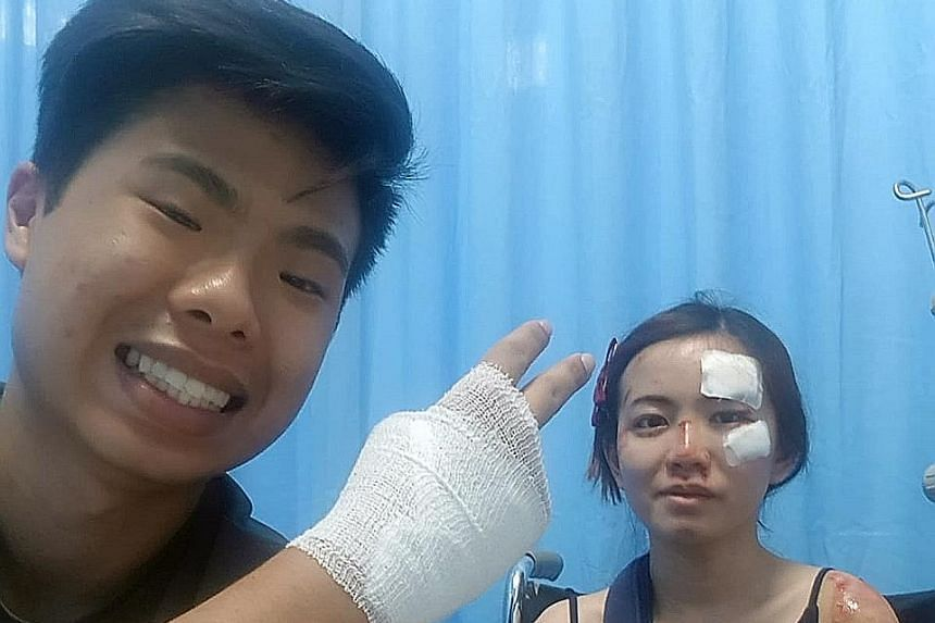Mr Eugene Aathar had minor injuries while Ms Dolly Ho had concussion and a fractured shoulder during the snatch theft.
