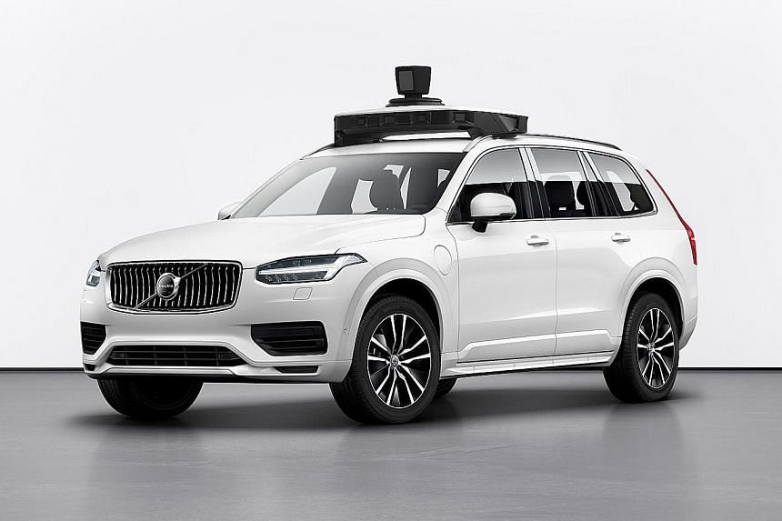 Volvo, Uber unveil production-ready self-driving car.